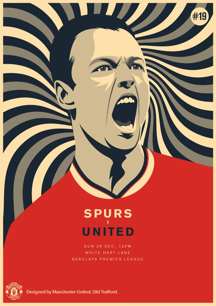 Match poster: Tottenham Hotspur vs Manchester United, 28 December 2014. Designed by @manutd.