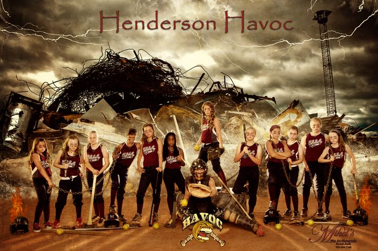 12 Year old girl's softball team, the Havoc, going to nationals. Mikel's Photography & Design www.MikelsPhotography.com  702-564-7166
