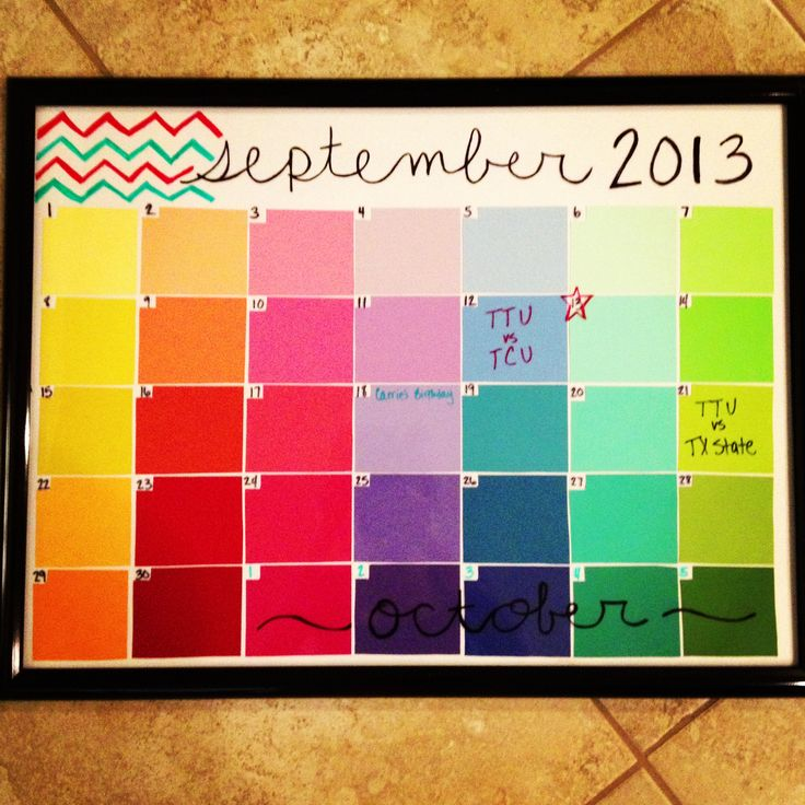 Diy Calendar With Paint Samples : Paint sample calendar products i love pinterest