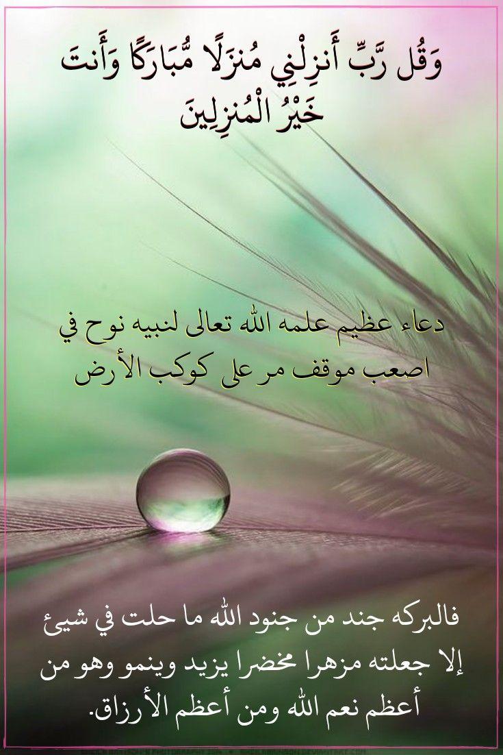 قرآن كريم آية وقل ربي أنزلني منزلا مبارك