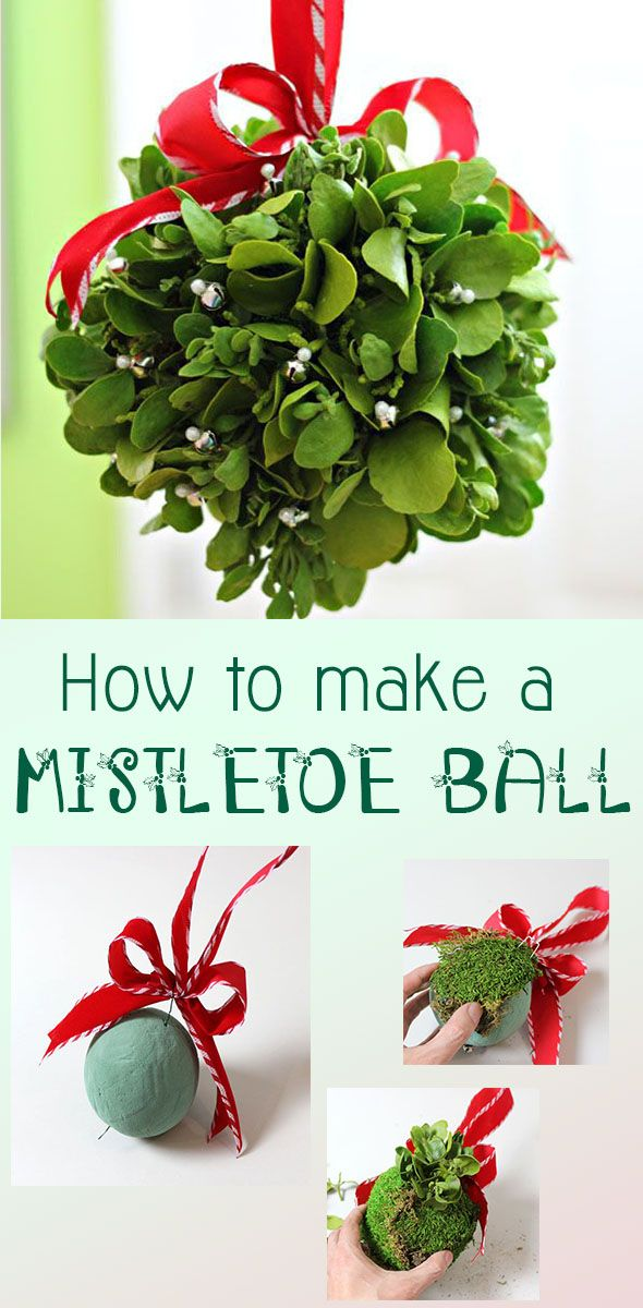 How adorable is this?! Get noticed under this mistletoe kissing ball! #diy