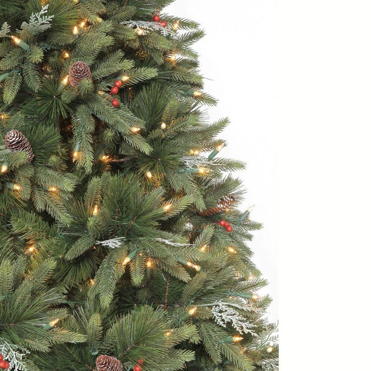 String Lights Christmas Tree Martha Stewart : Martha Stewart Living 9 ft. Andes Fir Quick-Set Slim Artificial Christmas Tree with 900 Clear ...