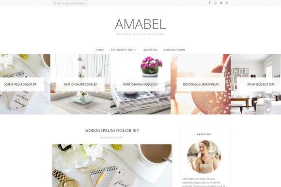 Blogger Template - Amabel  @creativework247