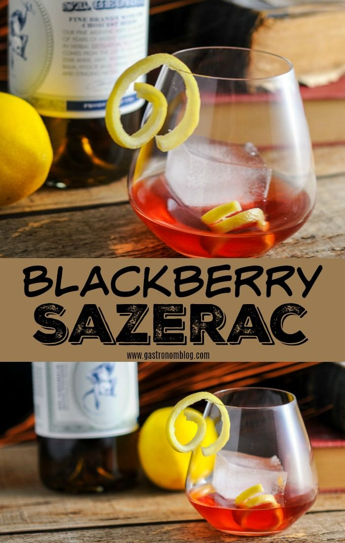 Blackberry Sazerac cocktail - absinthe, blackberry simple syrup, rye whiskey, creole bitters, angostura bitters #whiskey #cocktails #Blackberry #bitters #SanFrancisco