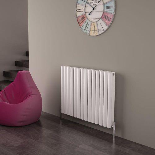 The Milano Aruba Ayre white designer radiator will update any room in your home