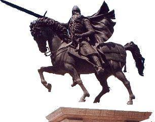 Monumento a CID en el centro de la ciudad de Burgos.