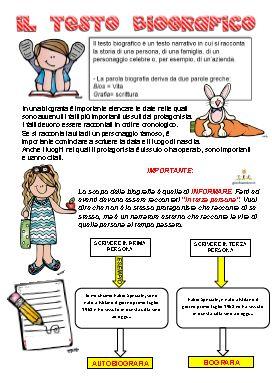Il testo biografico schede didattiche scuola primaria schede didattiche sul testo biografico - Letto scrittura schede ...