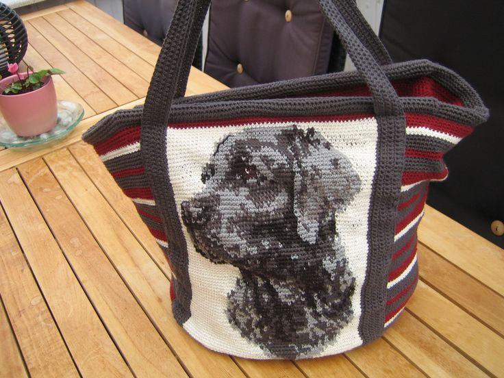 Hæklet taske Dansk opskrift