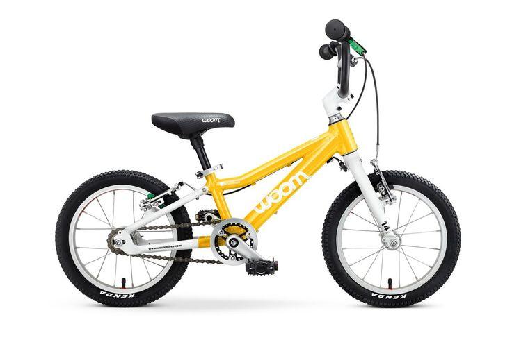 woom 2 leichtes Kinderfahrrad 14 Zoll, Aluminiumrahmen in gelb