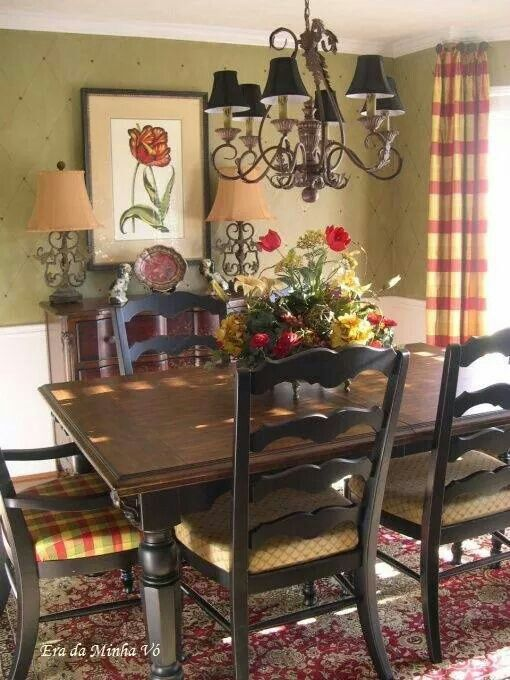 24 best window treatments for french doors images on for Small country dining room ideas