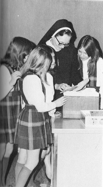 Sister with Catholic School Students 1970's   Flickr - Photo Sharing!