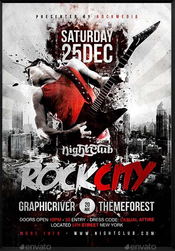 33 Free Concert Poster Templates Word Psd Ai Indesign Formats Concert Flyer Concert Poster Design Concert Posters