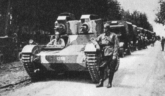 Polish Vickers Mark E tank