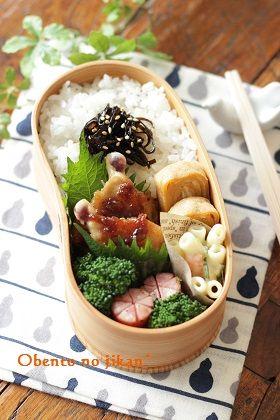 今日のおべんと。~鶏手羽の和風ソテー弁当~ : おべんとの時間。