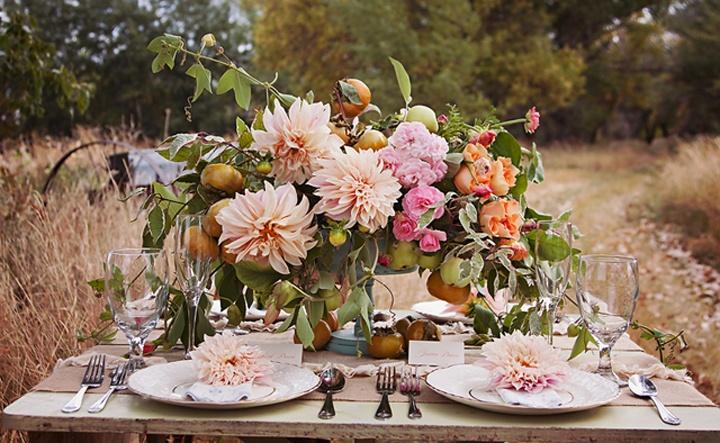 Persimmons and peach (Lemon Blossom Designs)