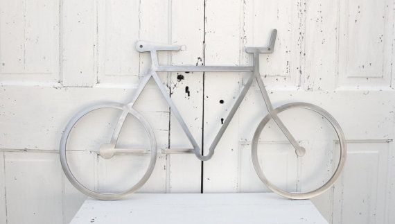 Bicycle Art  Metal Wall Art  Metal Bike Modern by baconsquarefarm