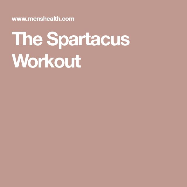 The Spartacus Workout