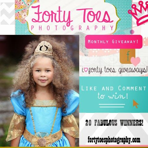 Forty Toes Photography NOVEMBER GIVEAWAY! Do not miss out! 20 PRIZES and 20 WINNERS www.fortytoesphotography@yahoo.com