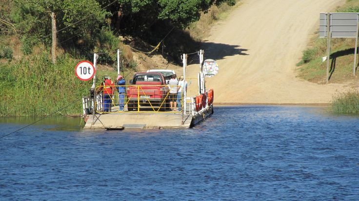 The Malgas cable ferry on the Breede River