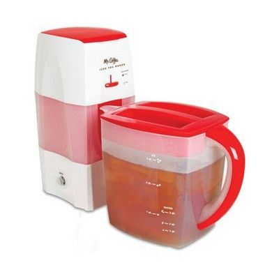 Mr. Coffee TM75RS 3 Quart Iced Tea and Coffee Maker, Red ...