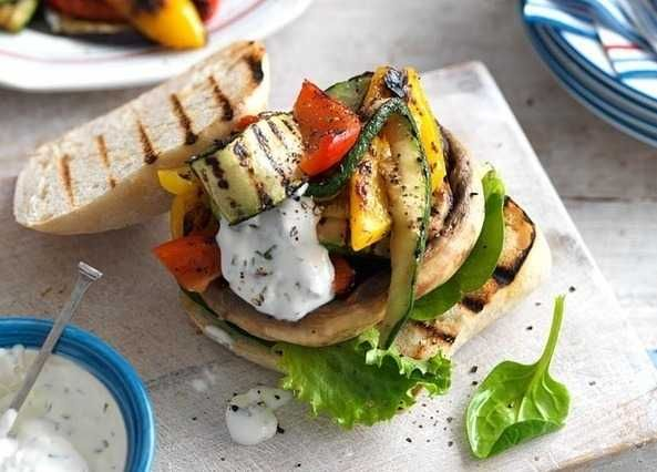 A platter of grilled veg will be welcomed by veggies and non veggies, too. Great for building a burger.