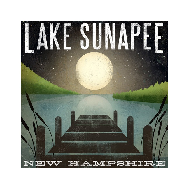 Made to Order Moon Rise LAKE SUNAPEE New by nativevermont on Etsy