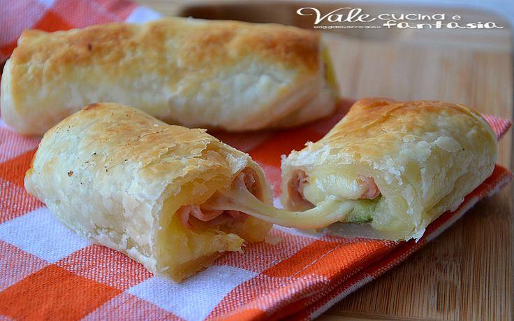 Cannoli di sfoglia con patate zucchine e mortadella, ricetta facile, finger food, aperitivo veloce anche per buffet e compleanni, golosi e sfiziosi