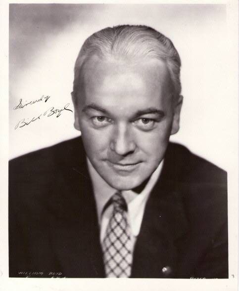 "William Boyd Actor | Details about auth. autograph,""Bil l Boyd"" photo- Hopalong Cassidy"