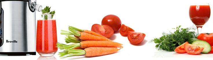 Jus de tomate, de concombre, de persil et de carotte