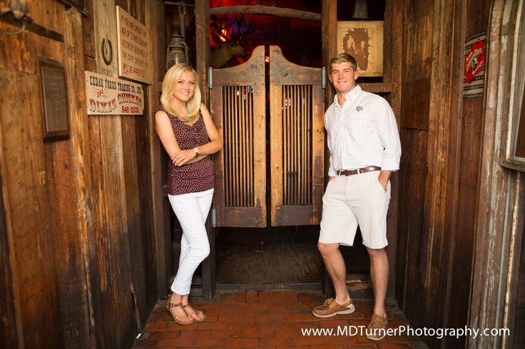 would be cute to get a kissing pic through the swinging doors