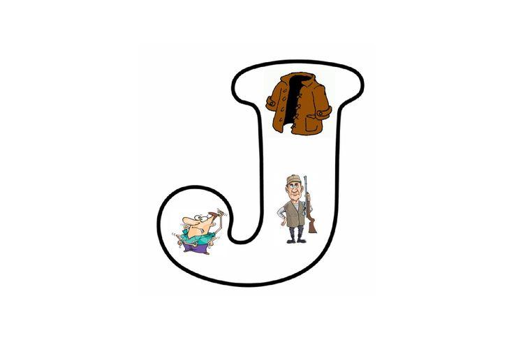 Letterpuzzel - Letter J