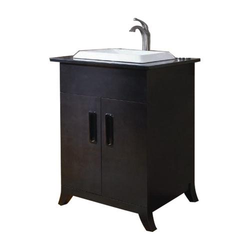 Zoomed allen roth 24 espresso halmstad bath vanity for Espresso vanity bathroom ideas