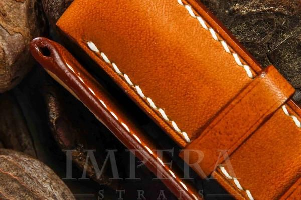 Tobacco Brown Leather for Panerai Watch Strap