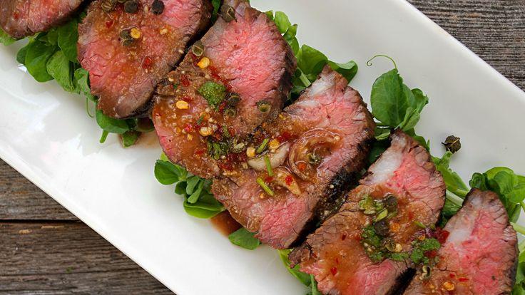 Thai Grilled Steak and Dipping Sauce (Seua Rong Hai)