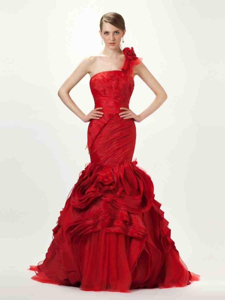 38 best Red Wedding Dresses images on Pinterest | Short wedding ...