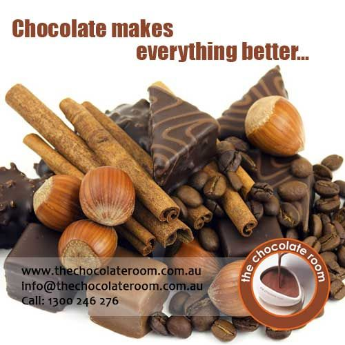 ‪#‎CHOCOLATE‬ makes everything better...  If even you agree the same, follow us @chocolateroomau