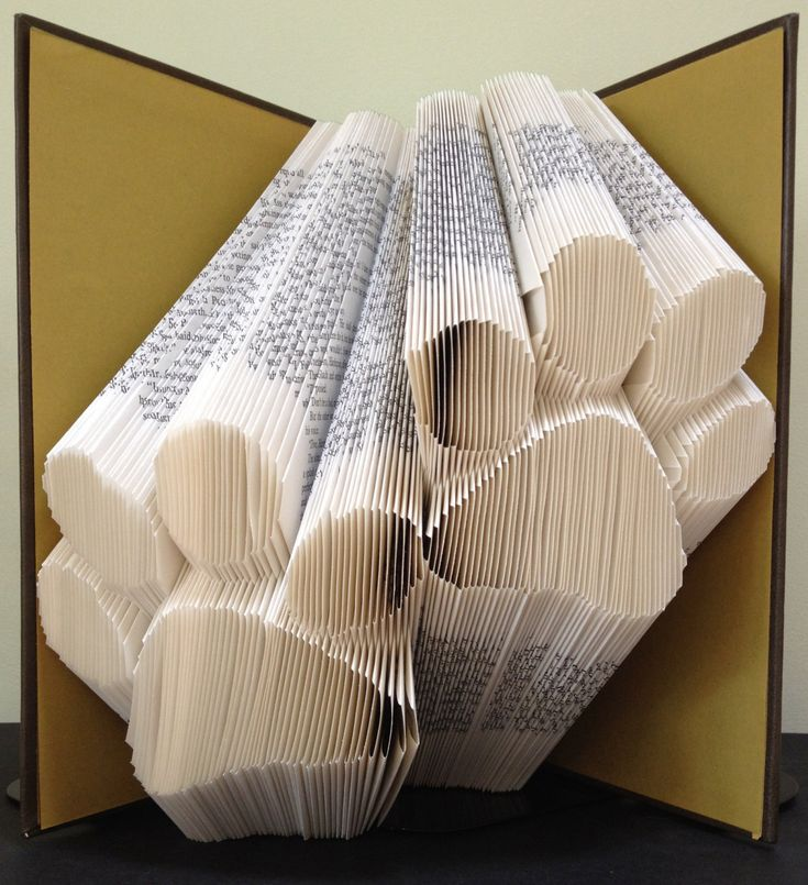 Paw Prints Book Folding Pattern. DIY template with 288 folds/576 pages. Full instructions included. No measuring required by LooksInviting on Etsy