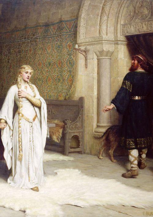 "Edmund Blair Leighton ""Lady Godiva"",detail,1892. ~ETS #LadyGodiva #fairytales #art"