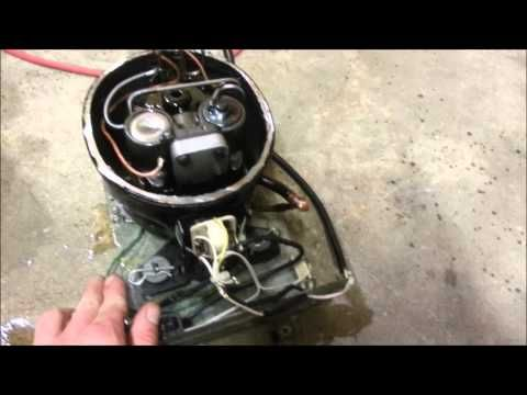 how to change out a compressor on a refrigerator