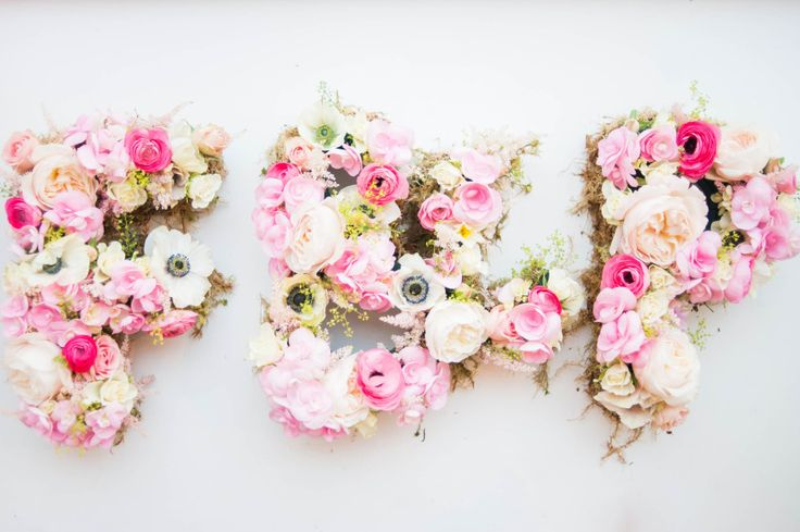 Floral monogram: http://www.stylemepretty.com/2014/07/17/15-perfectly-girly-bridal-shower-details/