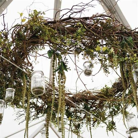 Hanging Branch Wreath Country Wedding It Is D