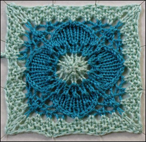 Ravelry: Project Gallery for Lace Flower Square pattern by Evan Plevinski
