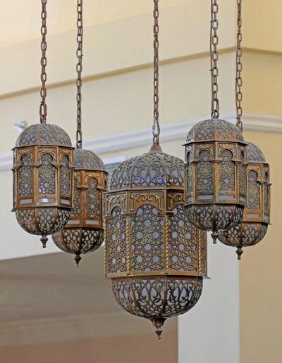 Copper Indian lanterns