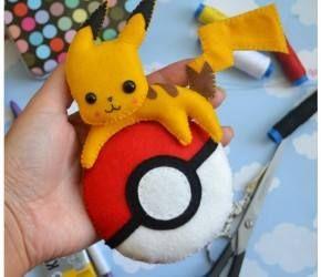 Molde Pokébola de feltro - Jogo Pokemon Go