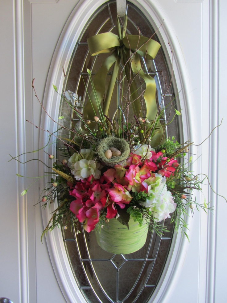 Hydrangea Wreath - Spring Wreath - Summer Wreath - Birdhouse Wreath.