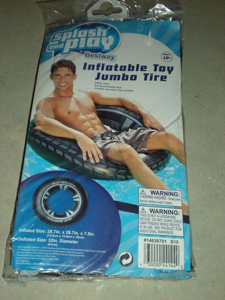 New Splash and Play by Bestway Inflatable Toy Jumbo Tire Float FREE SHIPPING #Bestway