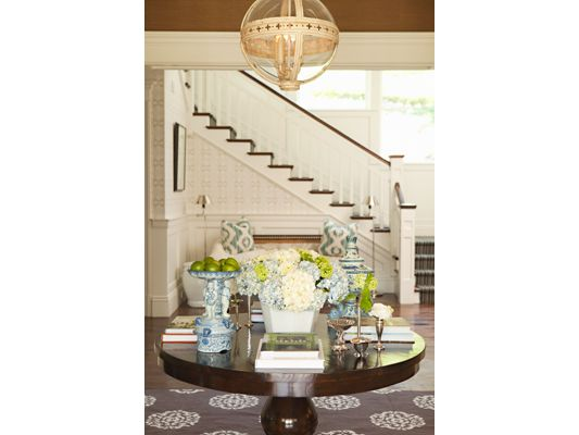 Lovely Foyer And Staircase, Interior Design Ideas And Home Decor ~  Hamptonu0027s Entry Table And Staircase