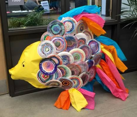 Collaborative Kindergarten Project: The Rainbow Fish, Friendship Fish, Art Lesson