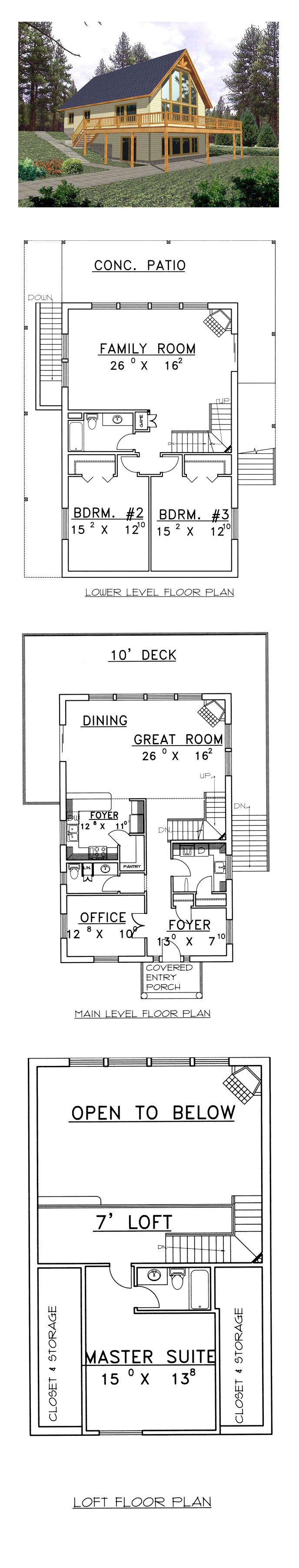 50 best Hillside Home Plans images – Hillside House Floor Plans
