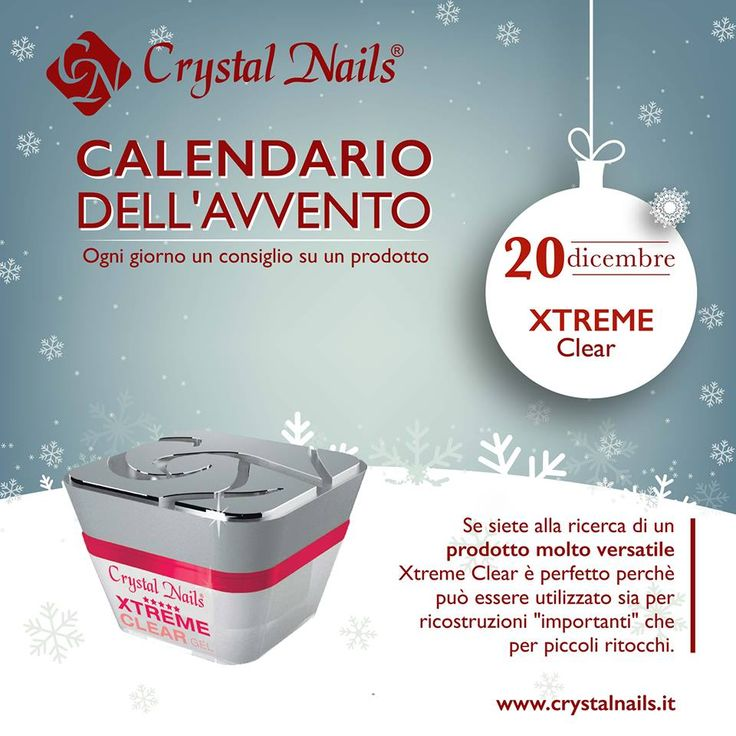 Calendario dell'avvento Crystal Nails - 20 dicembre #xtremeclear #crystalnails